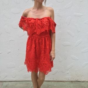 (Lovers + Friends) Dream Vacay Dress in Red